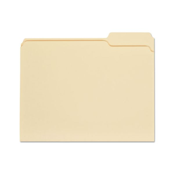Universal File Folders, 1/3 Cut Third Position, One-Ply Top Tab, Letter, Manila, 100/Box