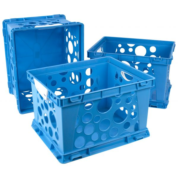 Storex Storex Large Storage and Filing Crate with Comfort Handles (Case of 3)