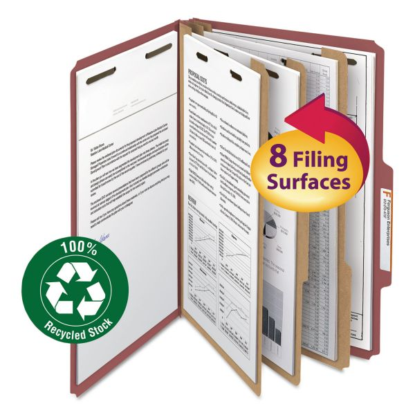 Smead 3-Divider Pressboard Classification Folders