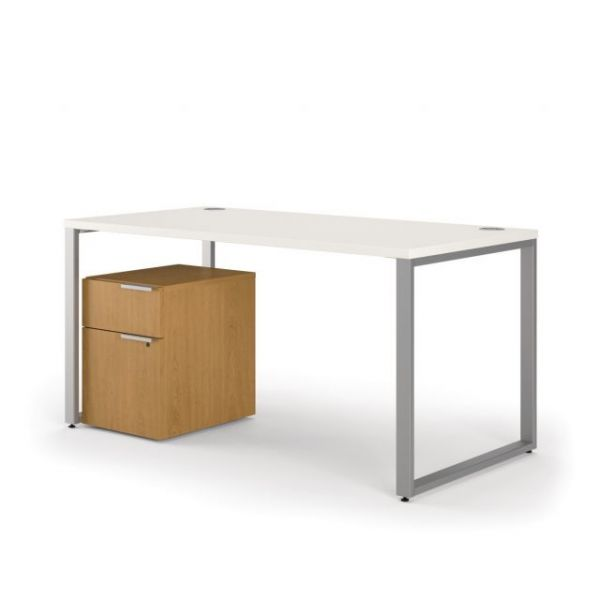 "HON Voi Mixed Material Table Desk | Desk, Mobile Pedestal | 60""W x 30""D"