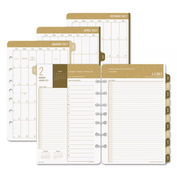 Day-Timer Sandalwood Two-Page-Per-Day Planner Refill, 5 1/2 x 8 1/2