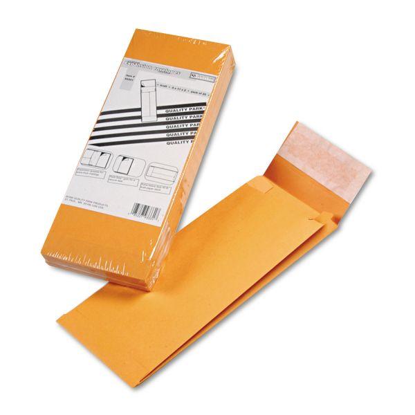 Quality Park Redi Strip Kraft Expansion Envelope, 5 x 11 x 2, Brown, 25/Pack