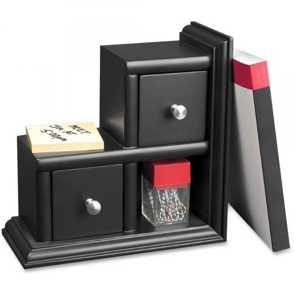 Victor Midnight Black Reversible Bookend