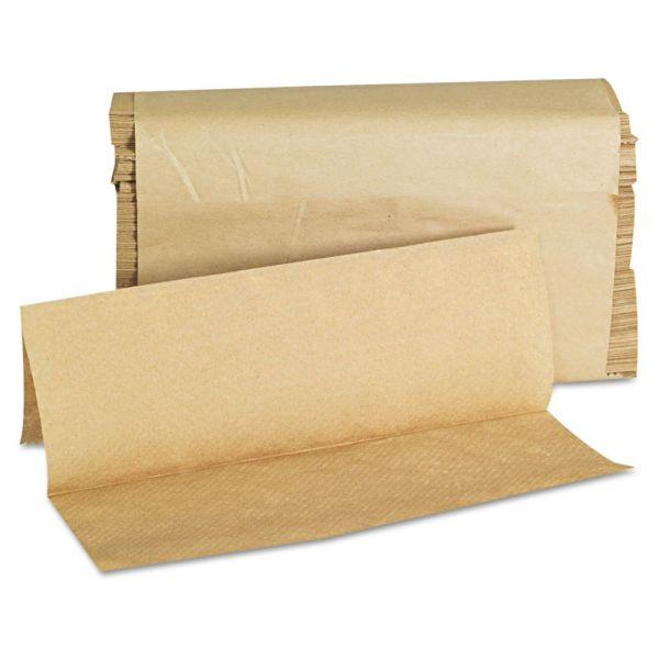 GEN Folded Paper Towels, Multifold, 9 x 9 9/20, Natural, 250 Towels/PK, 16 Packs/CT