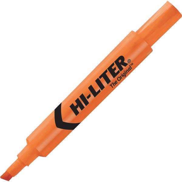 Avery HI-LITER Desk-Style Highlighter, Chisel Tip, Fluorescent Orange Ink, Dozen