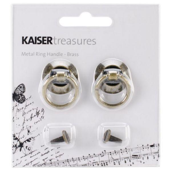 """Treasures Metal Door Knockers .75""""X1.25""""X.5"""" 2/Pkg"""