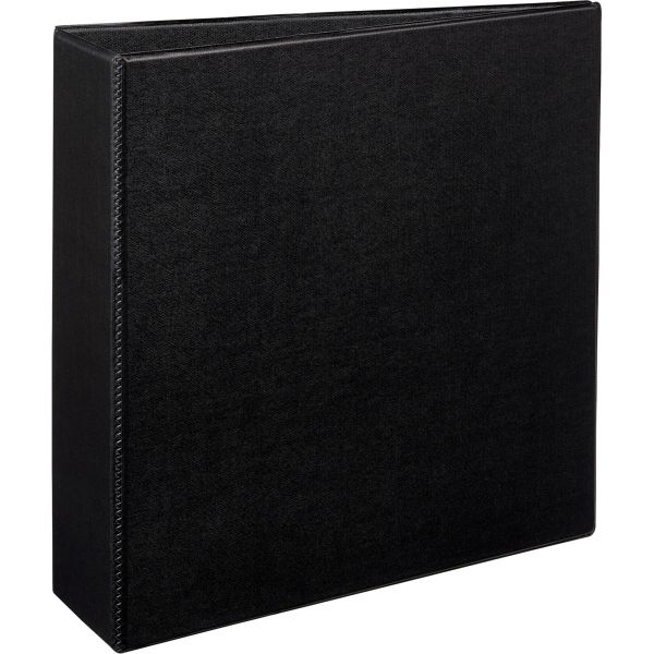 "Avery Durable 3-Ring Binder with Two Booster EZD Rings, 3"" Capacity, Black"