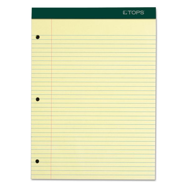 TOPS Double Docket Letter-Size Yellow Legal Pad