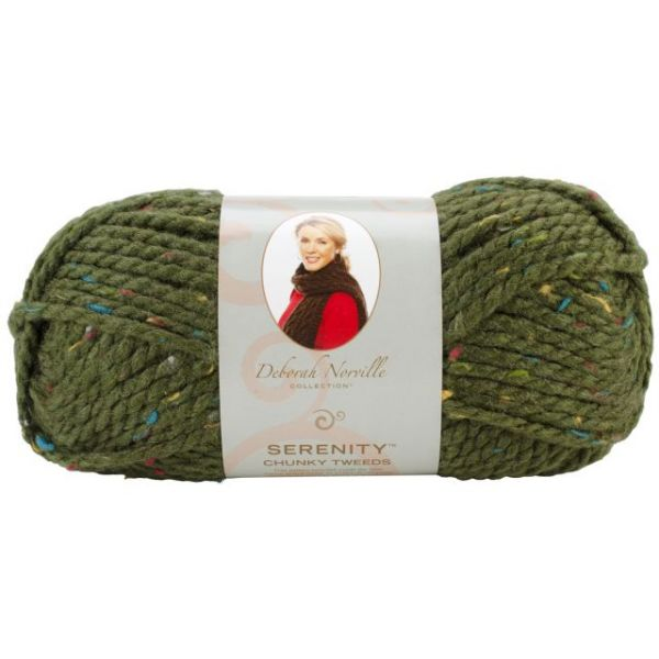 Deborah Norville Collection Serenity Chunky Tweed Yarn - Cypress