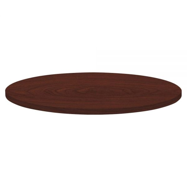 Lorell Round Invent Tabletop - Mahogany