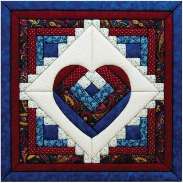 Log Cabin Heart Quilt Magic Kit