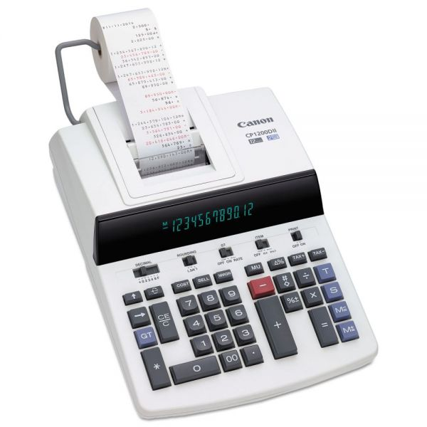 Canon CP1200DII Two-Color Commercial Desktop Printing Calculator