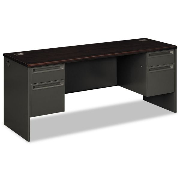 "HON 38000 Series Double Pedestal Credenza with Kneespace | 2 Box / 2 File Drawers | 72""W"