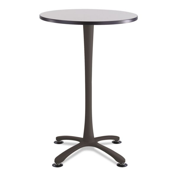 "Safco Cha-Cha Bistro Height Table Base, X-Style, Steel, 42"" High, Black"