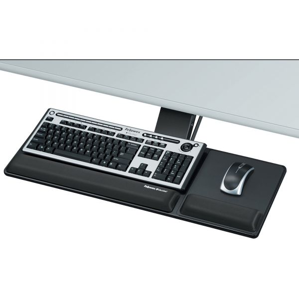 Fellowes Designer Suites Compact Keyboard Tray, 19w x 9 1/2d, Black