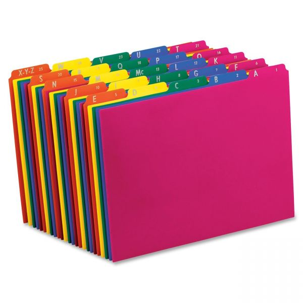 Pendaflex Top Tab Alphabetic Plastic File Guides