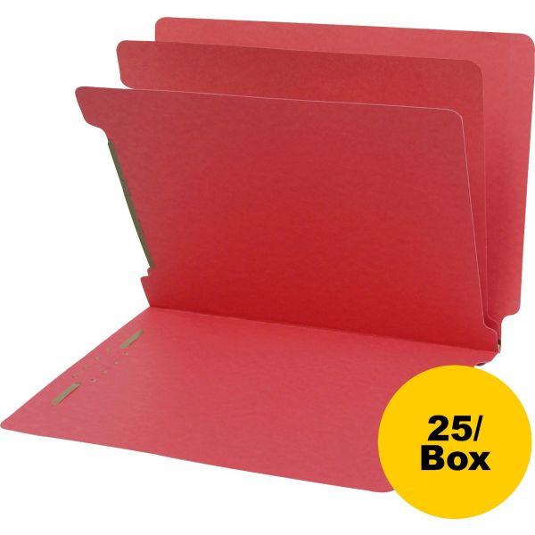 SJ Paper 2-Divider End Tab Classification Folders