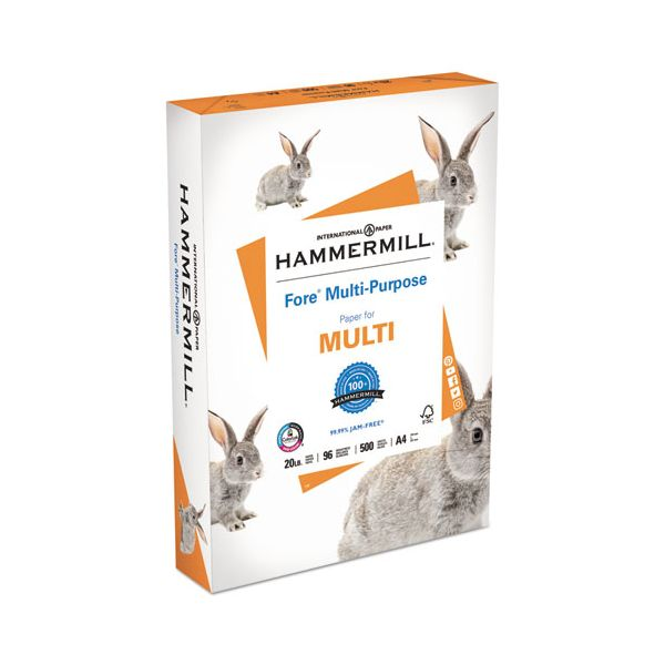 Hammermill Fore MP Multipurpose Paper, 96 Brightness, 20 lb, A4, White, 500 Sheets/Ream