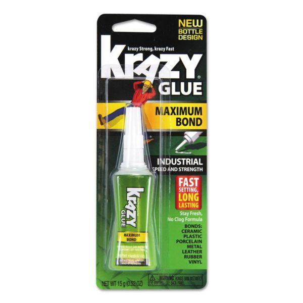 Krazy Glue Maximum Bond Krazy Glue, Clear, 0.52 oz Tube