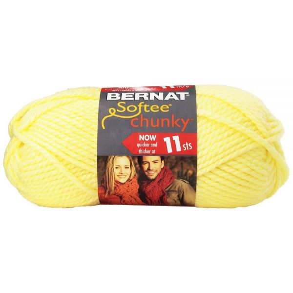 Bernat Softee Chunky Yarn - Baby Yellow