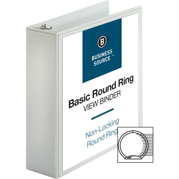 """Business Source 3"""" 3-Ring View Binder"""