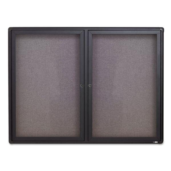 Quartet Enclosed Radius Fabric Bulletin Board