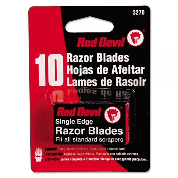 Red Devil Single Edge Scraper Razor Blades, 2 Packs Of 5 Blades
