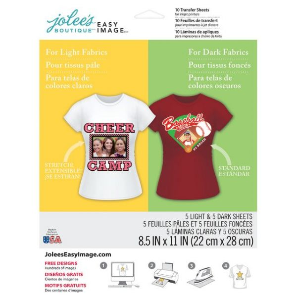 "Jolee's Easy Image Transfer Sheets 8.5""X11"" 10/Pkg"