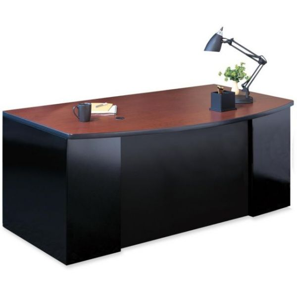 Mayline CSII Bowfront Single Pedestal Desk