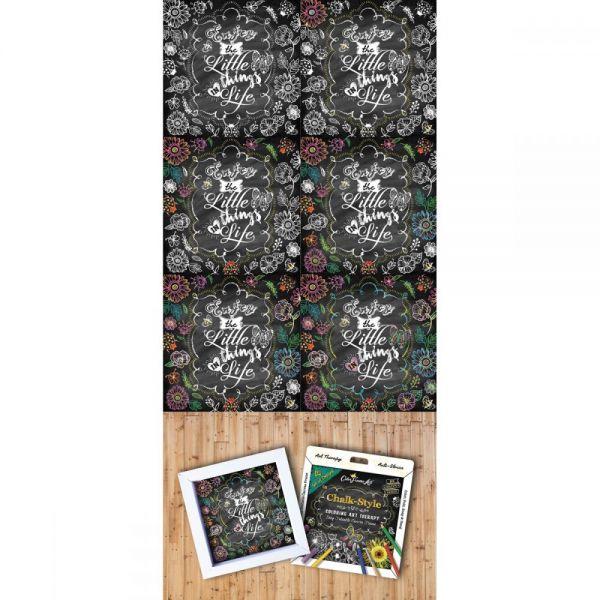 Adult Coloring Foldable Canvas Frame Assortment 4/Pkg