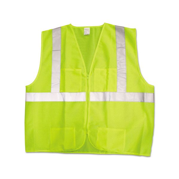 Jackson Safety* ANSI Class 2 Deluxe Safety Vest, 3X-Large/4X-Large, Lime Green/Silver