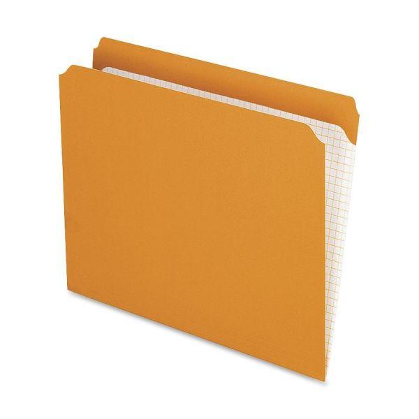 Pendaflex Orange Colored File Folders