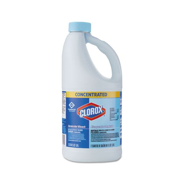 Clorox Concentrated Germicidal Bleach, Regular, 64oz Bottle