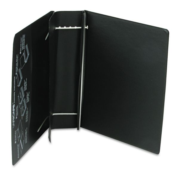 Charles Leonard Varicap6 Expandable 1 To 6 Post Binder, 11 x 8-1/2, Black