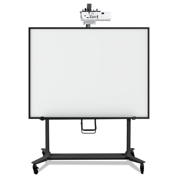 MasterVision Interactive Board Mobile Stand With Projector Arm, 76w x 26d x 86h, Black