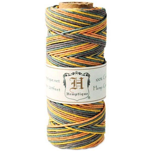 Hemp Variegated Cord Spool 20lb 205'