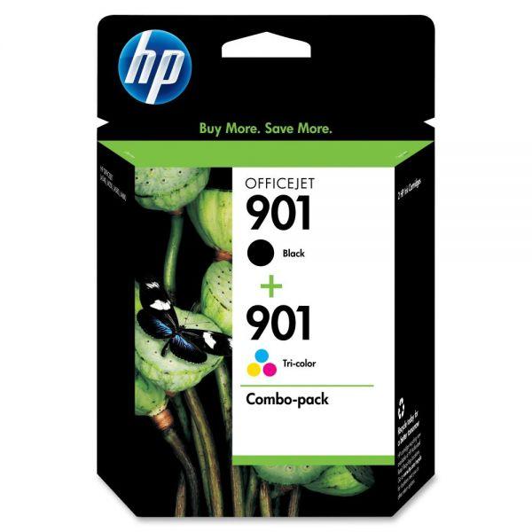 HP 901 Black/Tri-color Ink Cartridges (CN069FN)
