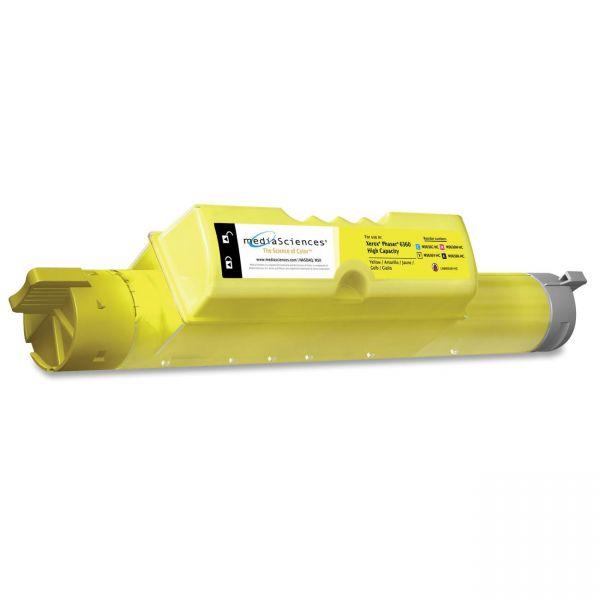 Media Sciences Remanufactured Xerox 106R01220 Yellow Toner Cartridge