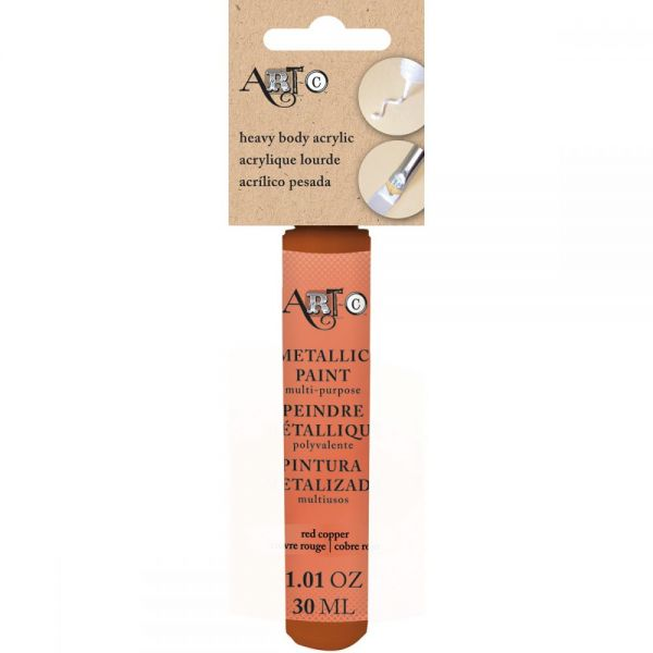 Art-C Heavy Body Metallic Red Copper Acrylic Paint
