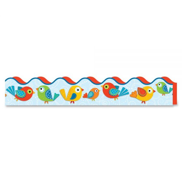Carson-Dellosa Boho Birds Scalloped Borders