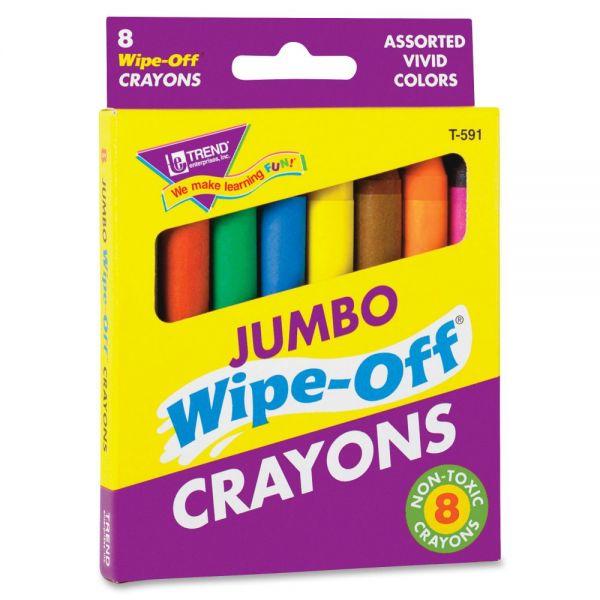 Trend Jumbo Wipe-Off Crayons