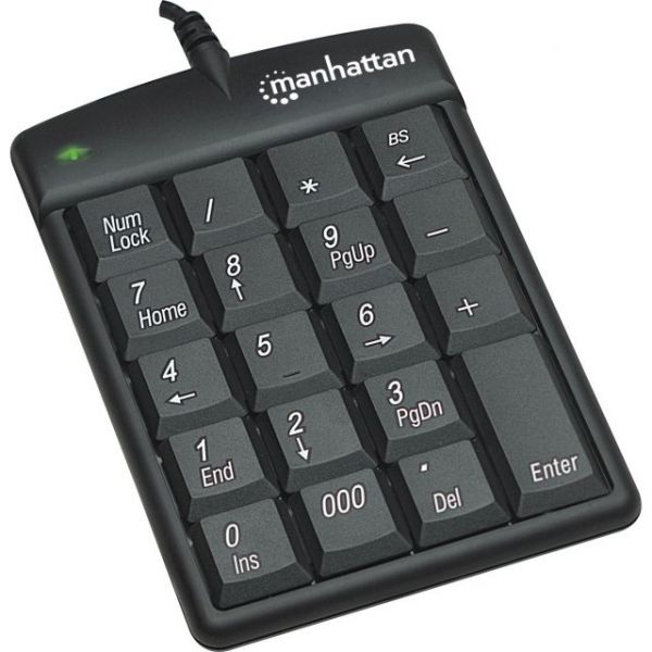 Manhattan USB Numeric Keypad with 19 Full-size keys