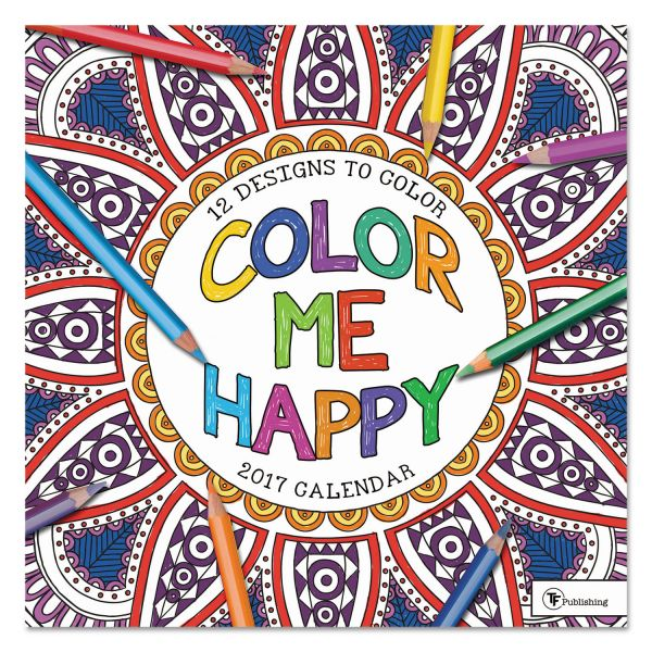 TF Publishing Color Me Happy Monthly Wall Calendar