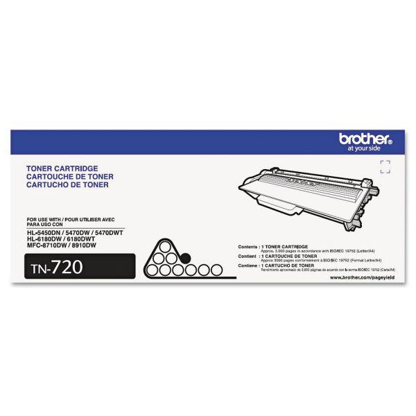 Brother TN-720 Black Toner Cartridge