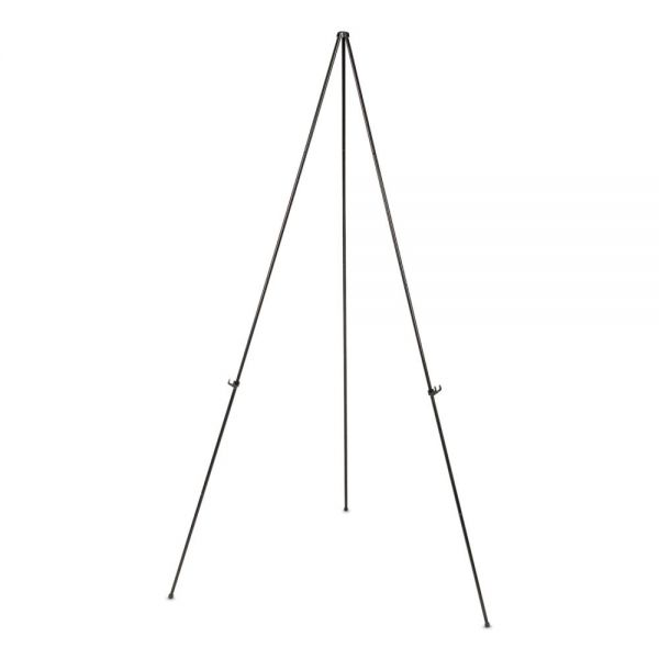 "Universal Instant Setup Foldaway Easel, Adjusts 15"" to 61"" High, Steel, Black"
