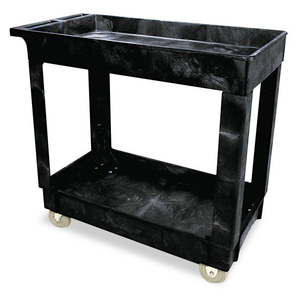 Rubbermaid Heavy-Duty Lipped-Shelf Utility Cart