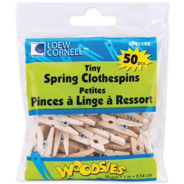 Woodsies Tiny Spring Clothespins