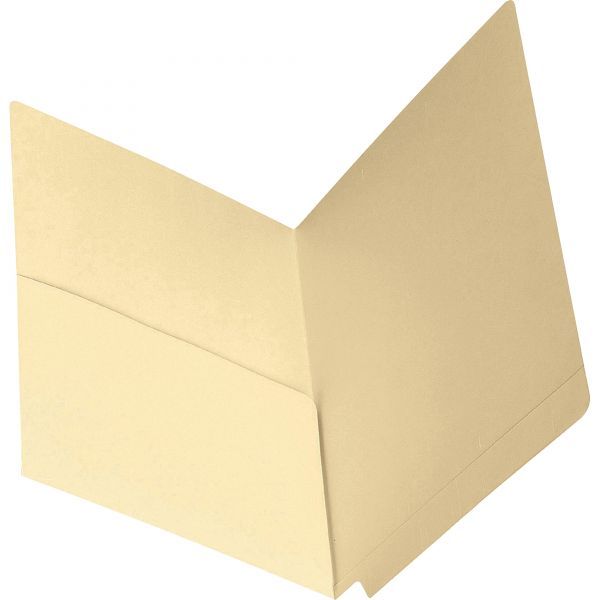 Smead Letter Size End Tab Pocket File Folders with Reinforced Tabs