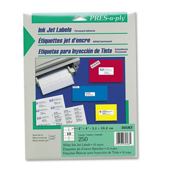 Avery Pres-A-Ply Shipping Labels