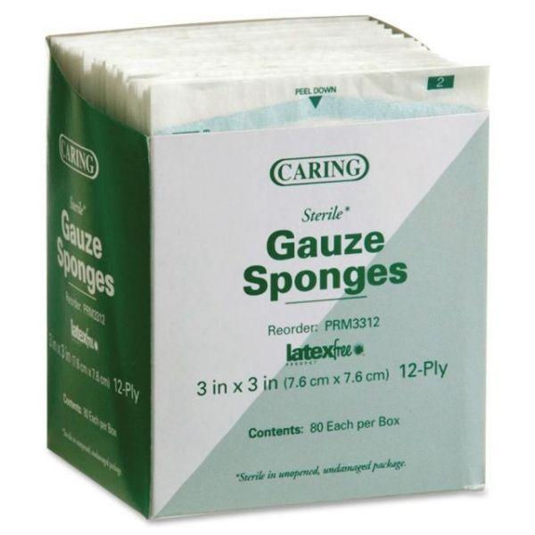 Caring Sterile Gauze Sponges